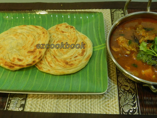Parotta |  How To Make Parotta At Home  With Step By Step Picture