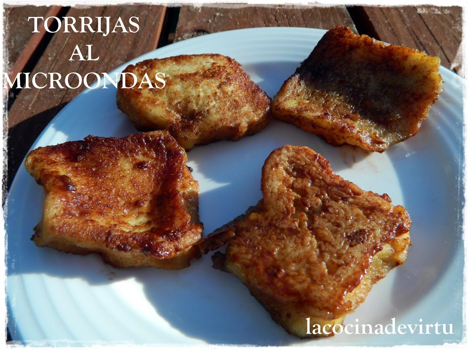 TORRIJAS AL MICROONDAS