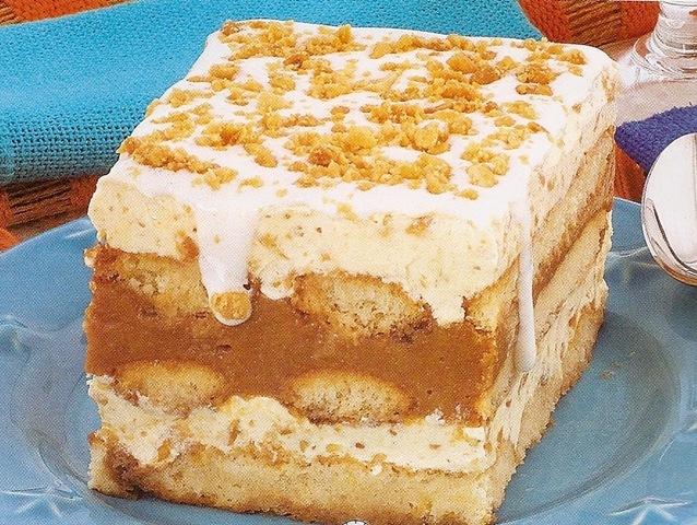 Torta gelada de doce de leite