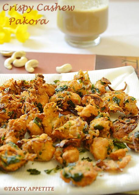 How to make Cashew Pakoda / Pakora ? / Crispy Cashew Pakoda /  Easy Snack Recipes