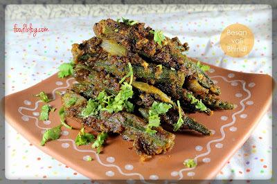 Rajasthani Besanwali Bhindi recipe (राजस्थानी बेसनवाली भींडी)