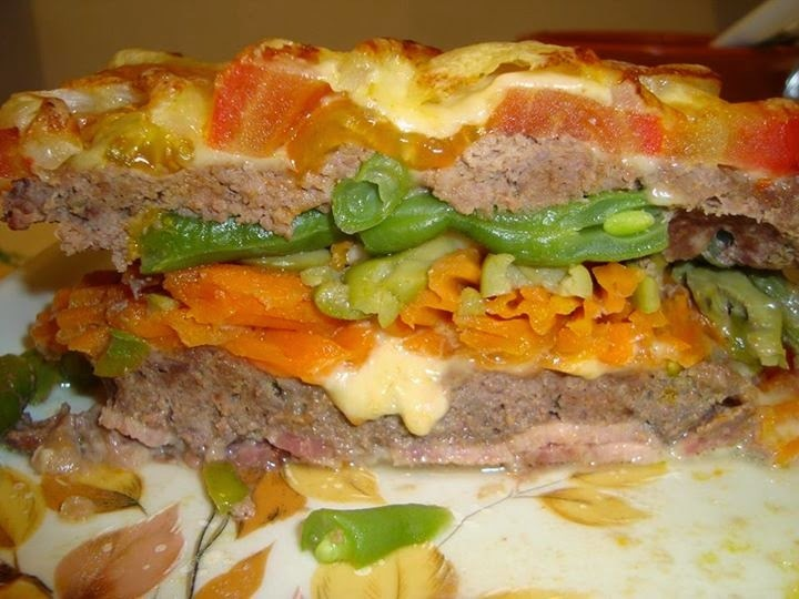 Lasanha de Carne com Legumes