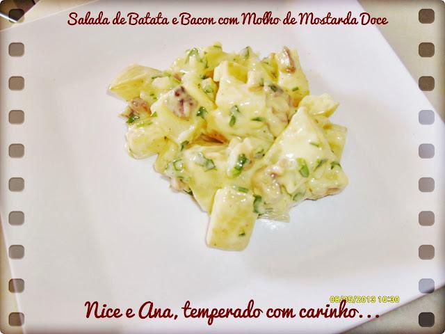 Salada de Batatas e Bacon com Molho de Mostarda