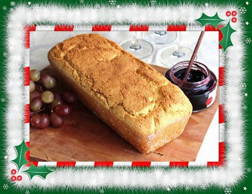 de pão de farinha de milho e farinha de mandioca