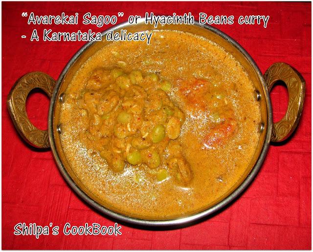 """Avarekai Sagoo"" or Hyacinth Beans curry - A Karnataka delicacy"