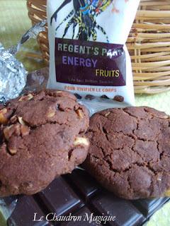 De l'energie sous forme de gourmandises, les cookies de Christophe Felder aux noisettes, raisins secs et cannerberges. Et sans oeufs, s'il vous plaît!