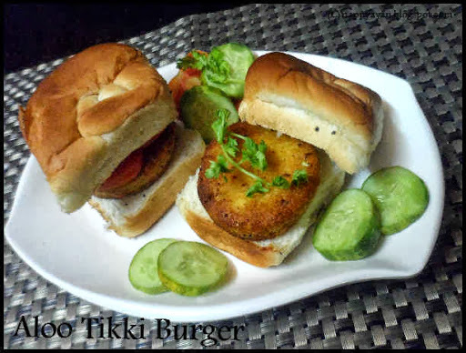 Aloo Tikki Burger - Kids' friendly