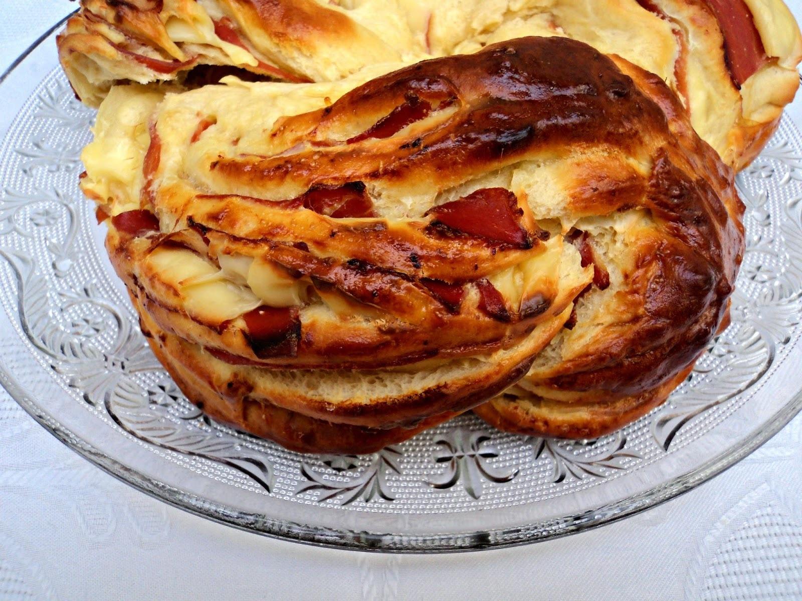 Kringle de jamón serrano y queso