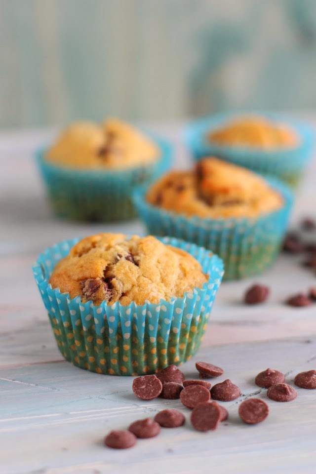 Receta: Muffins de Plátano y Chips de Chocolate