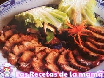 Receta de Cerdo con rollitos de verduras