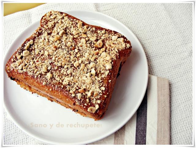 Cakewich de crema de chocolate, naranja y avellanas