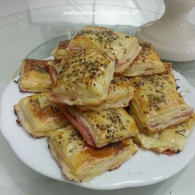 folhado de queijo e presunto do edu guedes