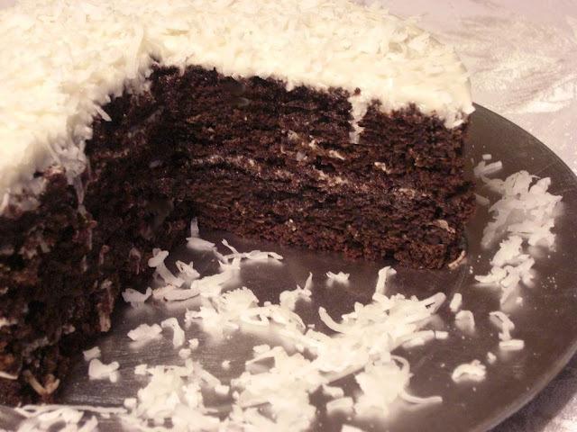 Torta de Coco e Chocolate