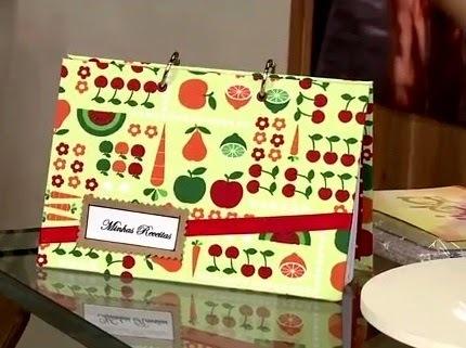 Aprenda como fazer um lindo caderno de receitas em cartonagem