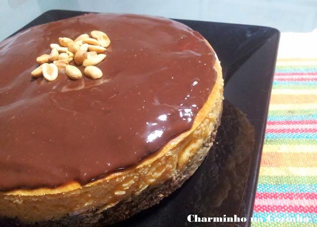 Cheesecake de amendoim