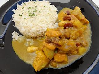 Pollo al estilo hindú con arroz