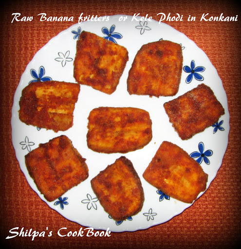 "Raw Banana fritters or ""Kele Phodi"" in Konkani"