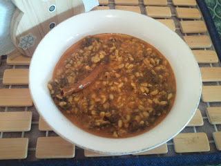 Yellow Mung dal with Dill / Yellow split lentils with Dill
