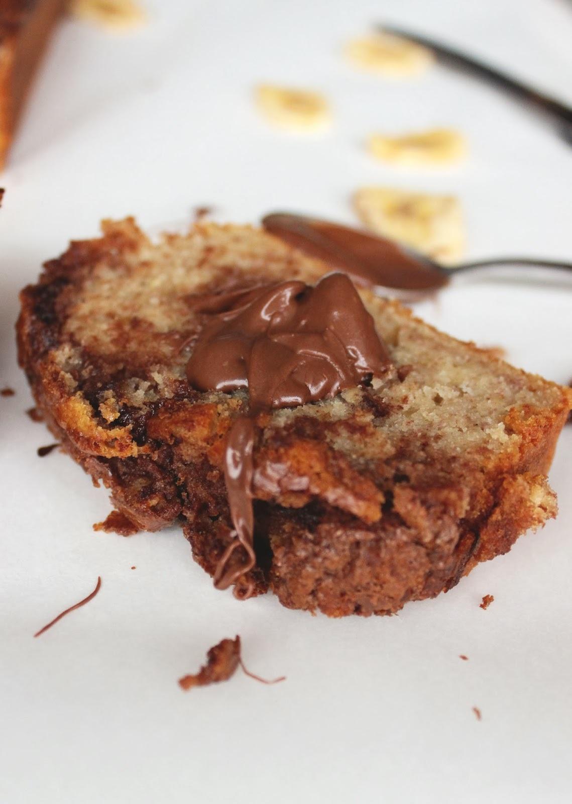 Slatki kruh od banane i nutelle / Banana Nutella Bread