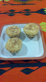 Muffins de Avena, Plátano y chia.