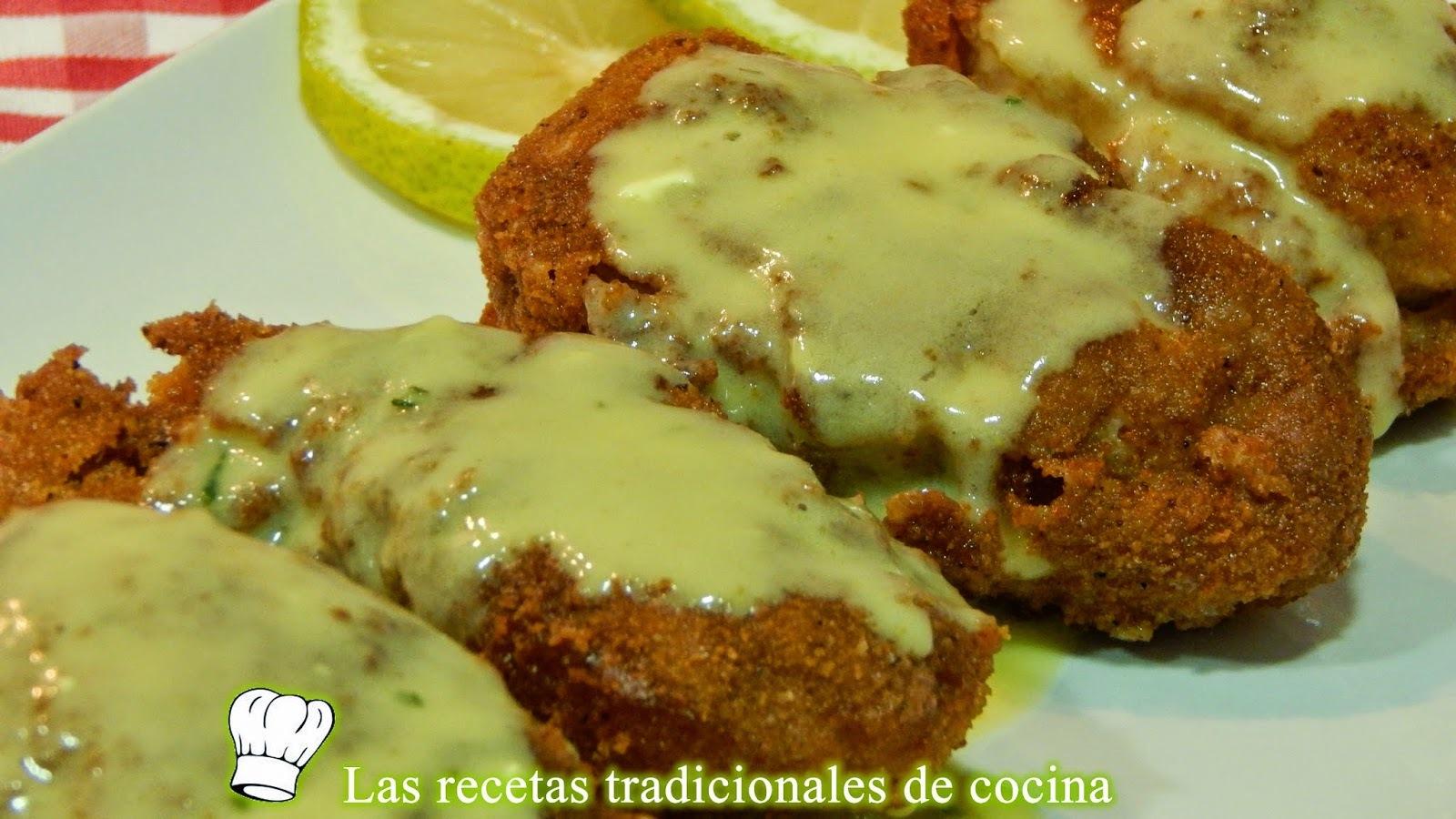 Receta de pollo frito con salsa de limón