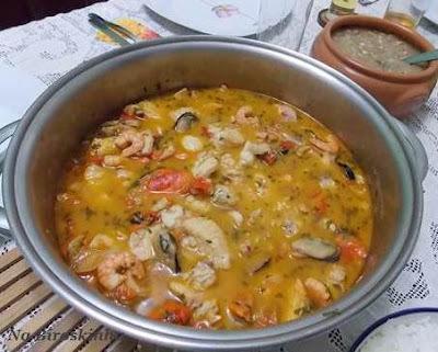 como fazer caldeirada de frutos do mar