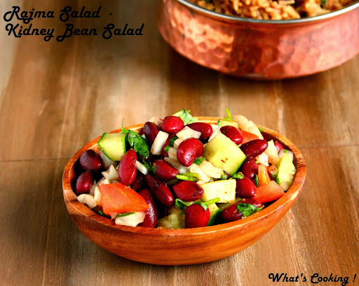 Rajma Chaat/Salad - Kidney Bean Salad