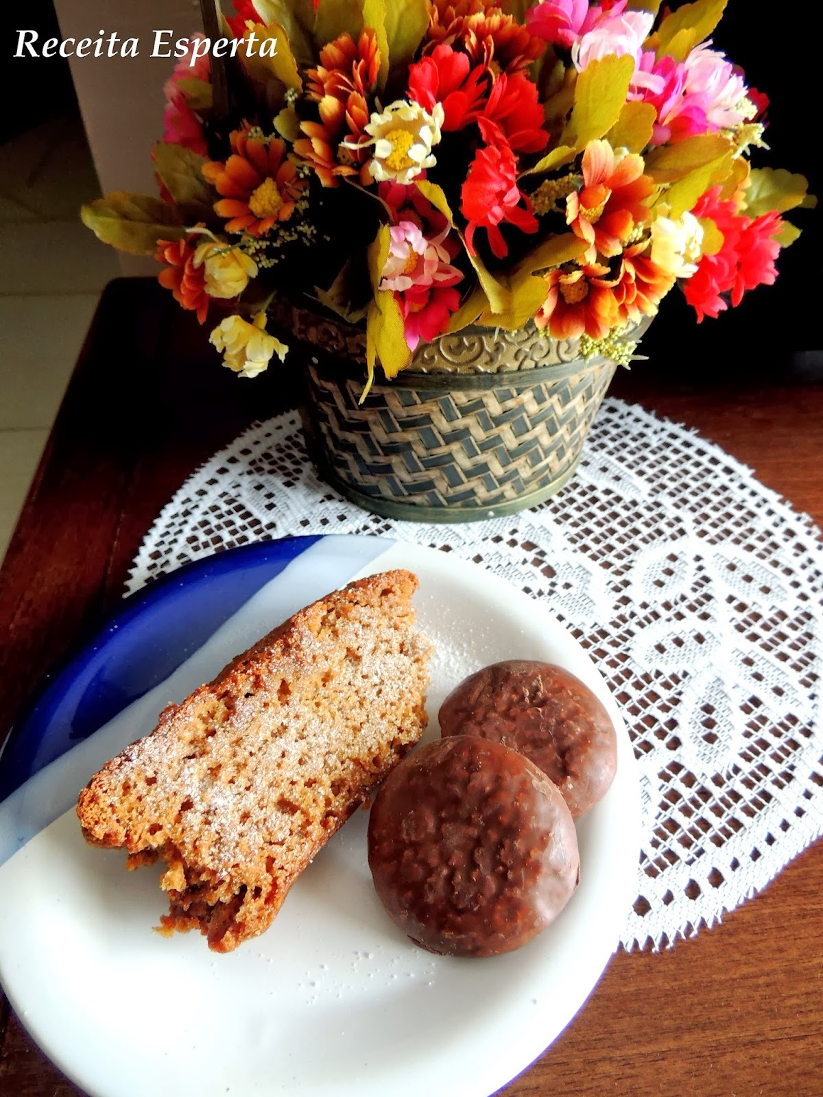 pão de mel feito com bolo de chocolate
