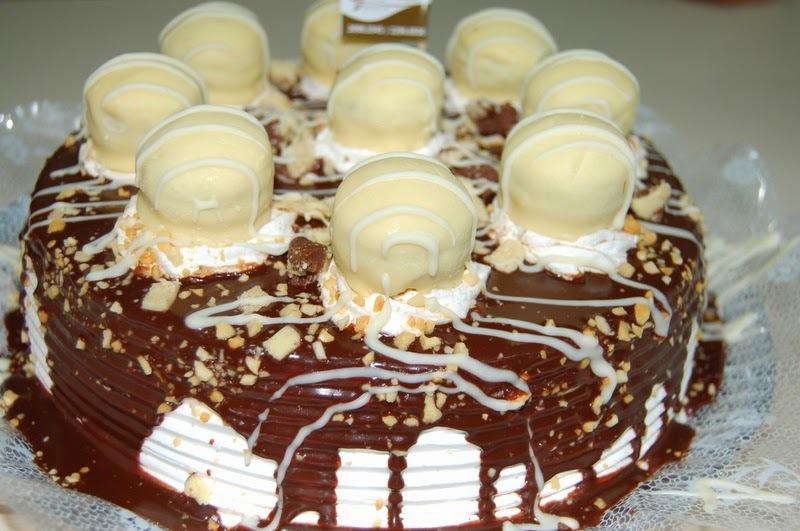 Bolo bombom de chocolate branco