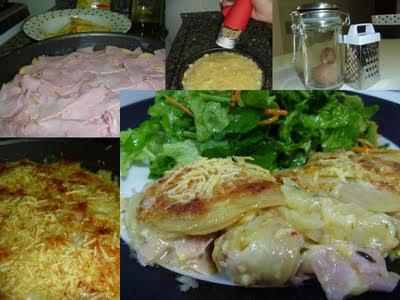 Batata de forno com Presunto e Queijo!!