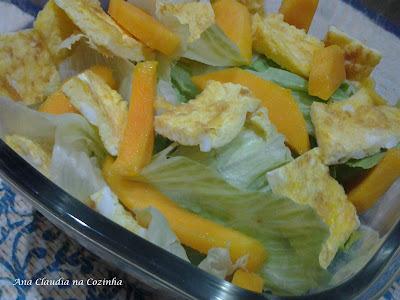 Salada de Omelete - Divulgação do Legume e Fruta da BC de Dezembro