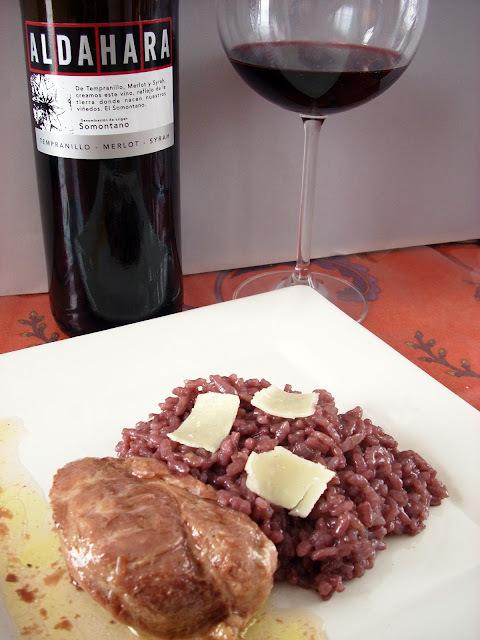 Risotto al Vino Tinto con Carrilleras de Cerdo