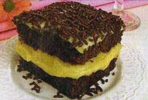 Bolo de Chocolate com Recheio de Brigadeiro Branco