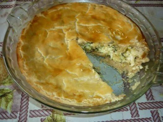 TORTA DE ALHO PORRÓ COM RICOTA