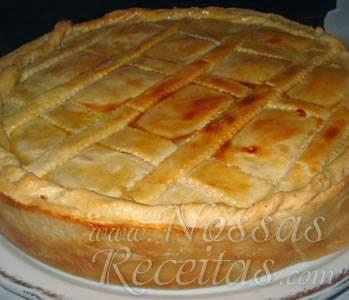 de torta fria de frango e legumes