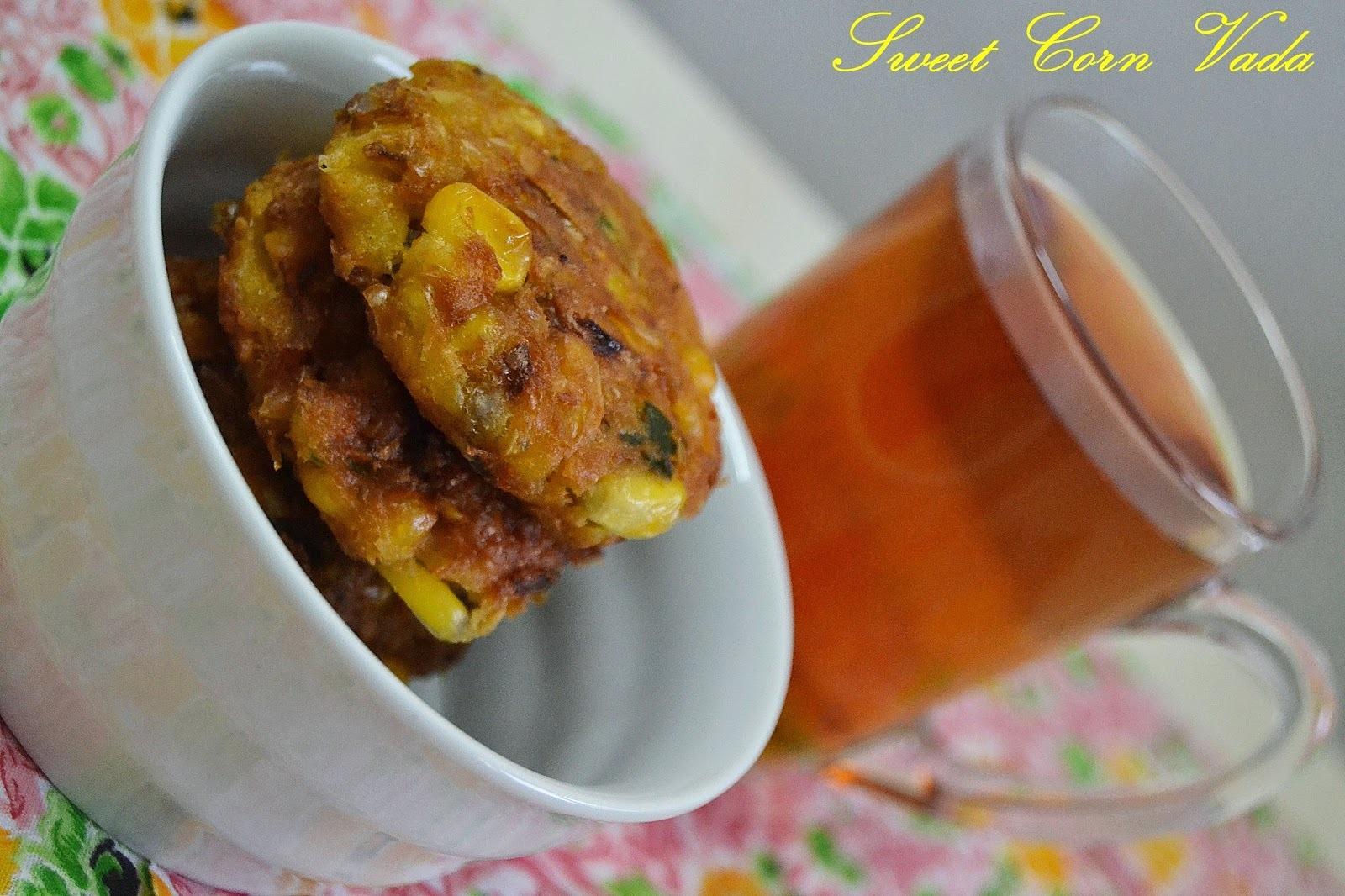 Sweet Corn Vadas