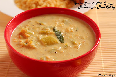 Snake Gourd & Milk Curry - Pudalangai Paal Curry