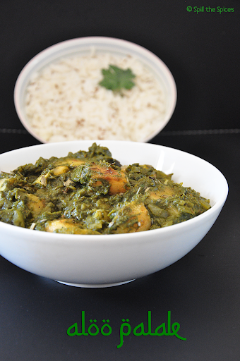 palak curry for chapathi