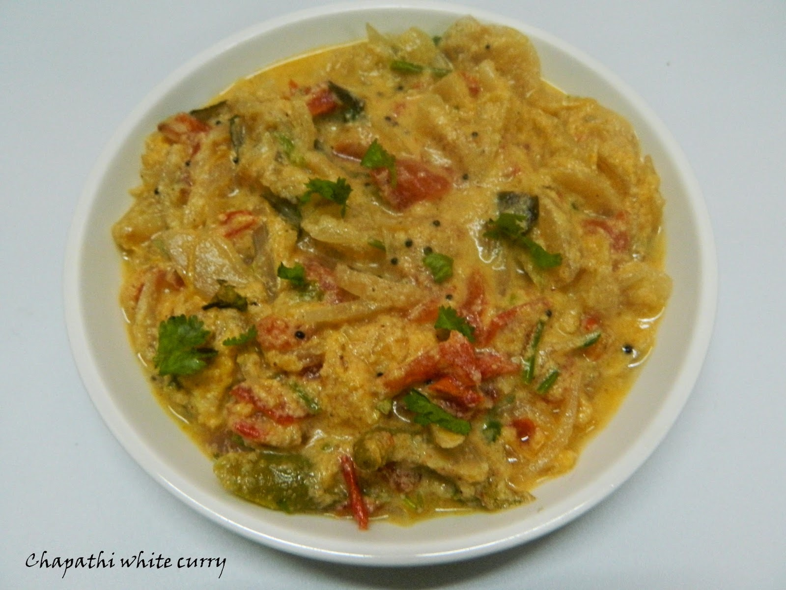 Chapathi white curry