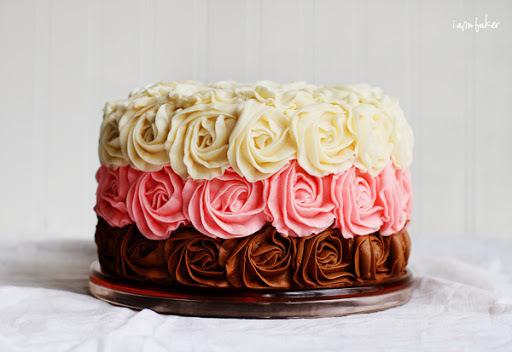 glace real colorido para cupcake