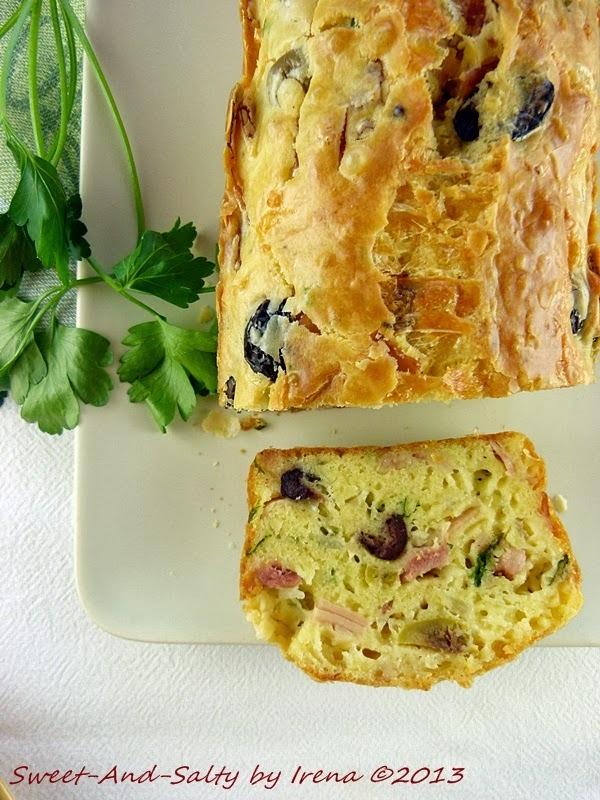 Slani kolač sa maslinama i slaninom / Loaf With Olives And Bacon