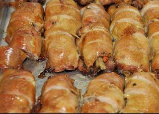 Receitas de frango: rolê de filé de frango