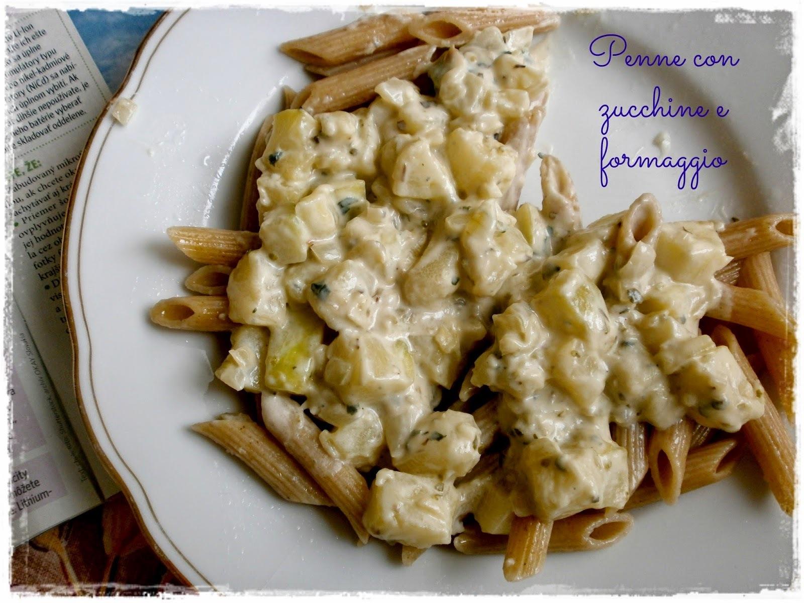 Penne con zucchine e formaggio / Penne s cuketou a syrom