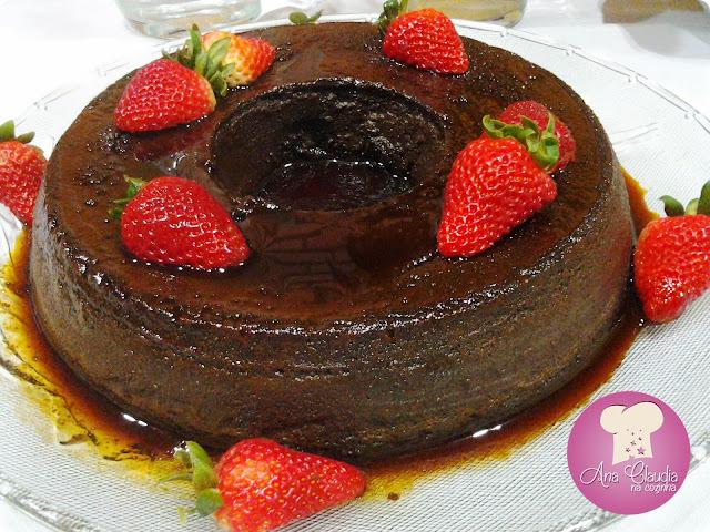 Pudim de Leite Condensado com Chocolate