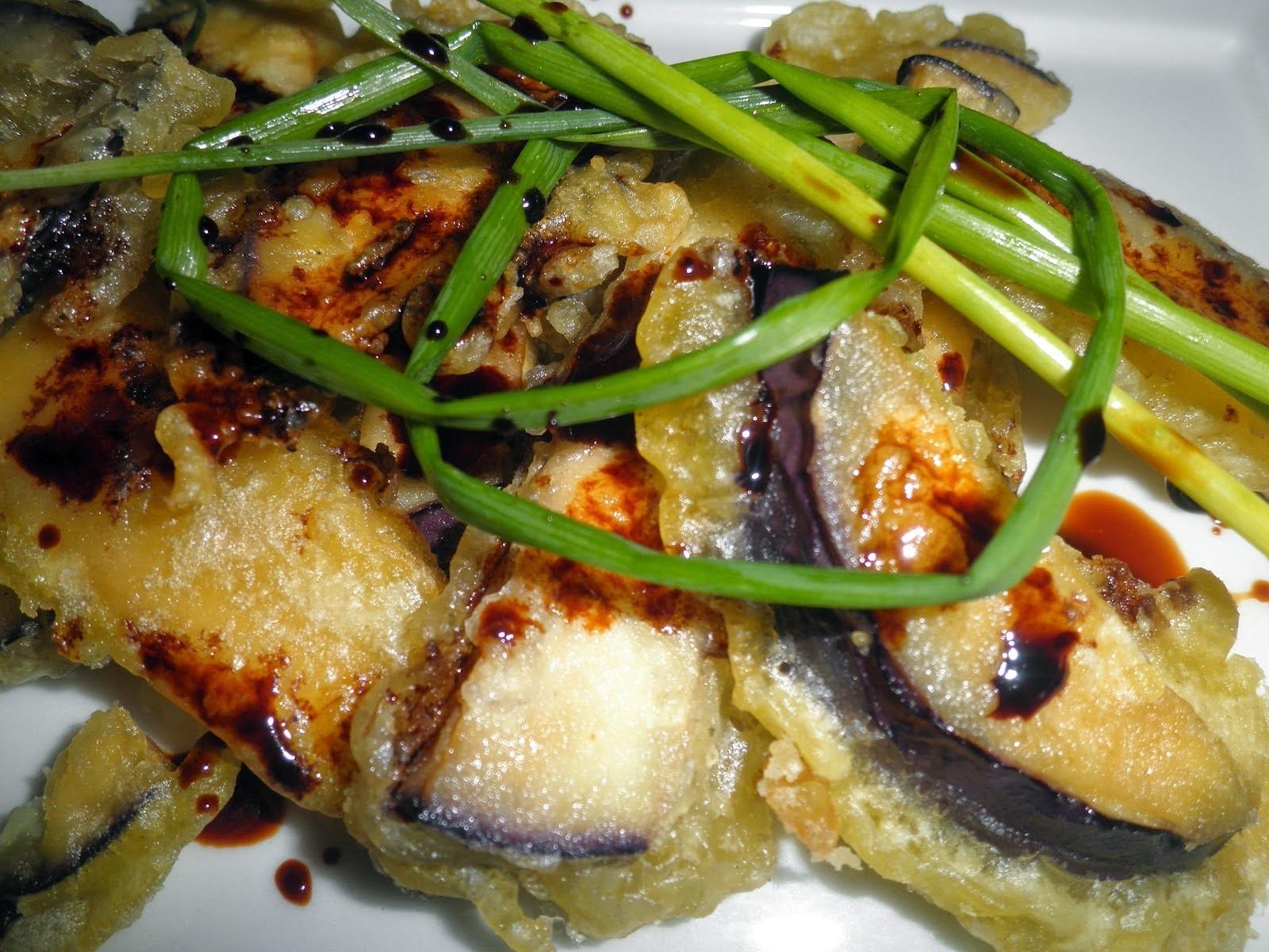como hacer tempura de berenjena