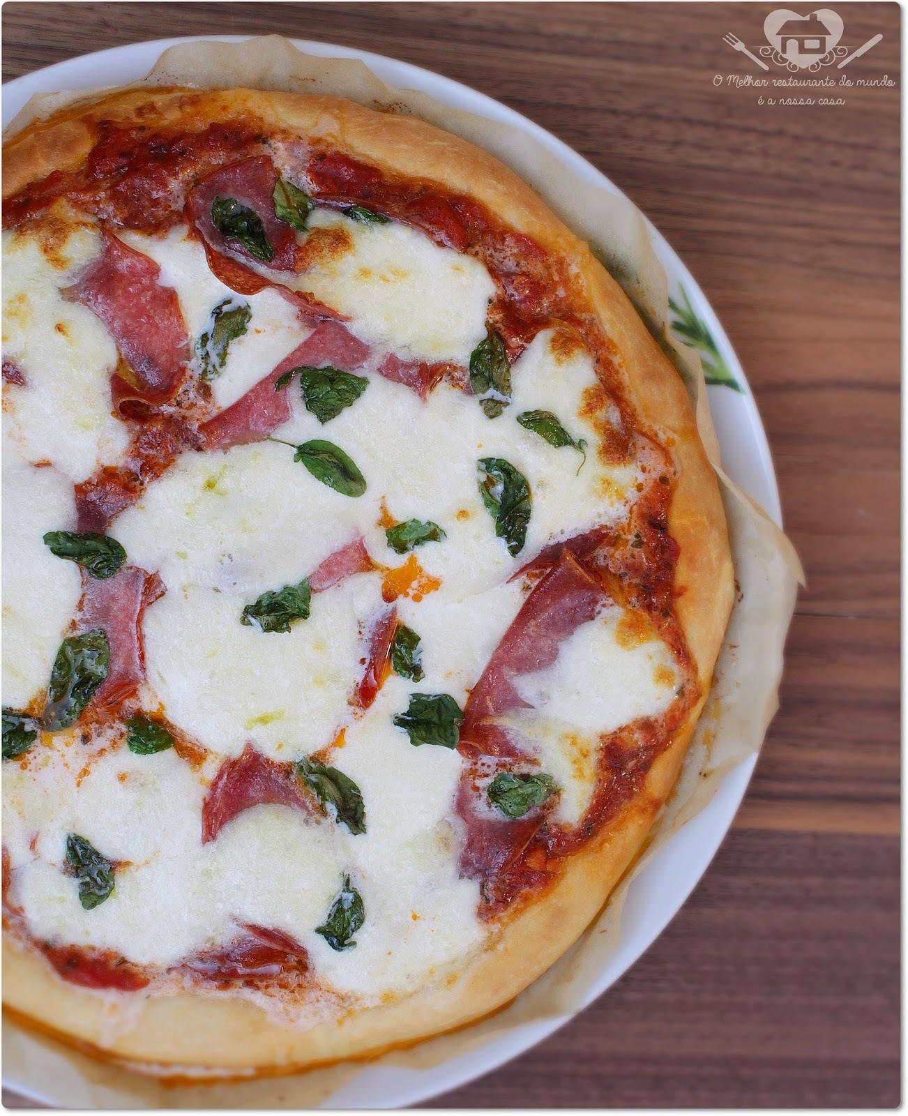 Receita de pizza de liquidificador (salgada e doce)