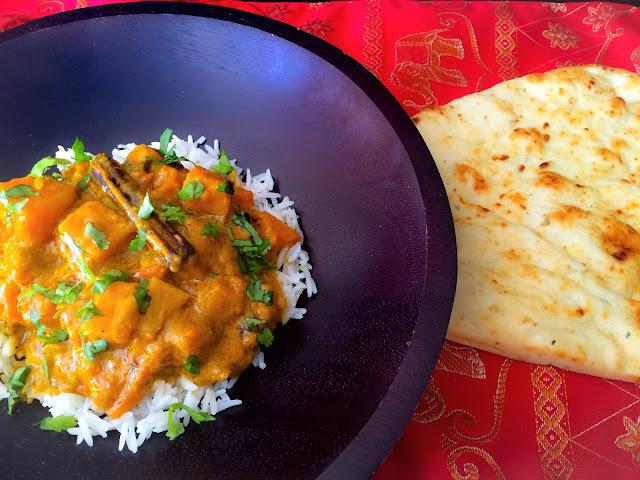 Courge Butternut Au Curry et Lait de Coco