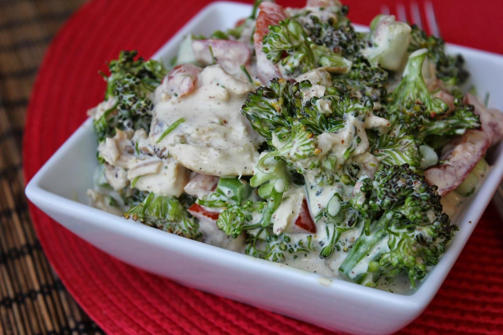 Mustard Chicken Broccoli Salad