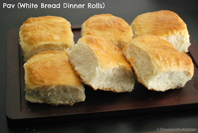 Pav - Ladi Pav - White Bread Dinner Rolls
