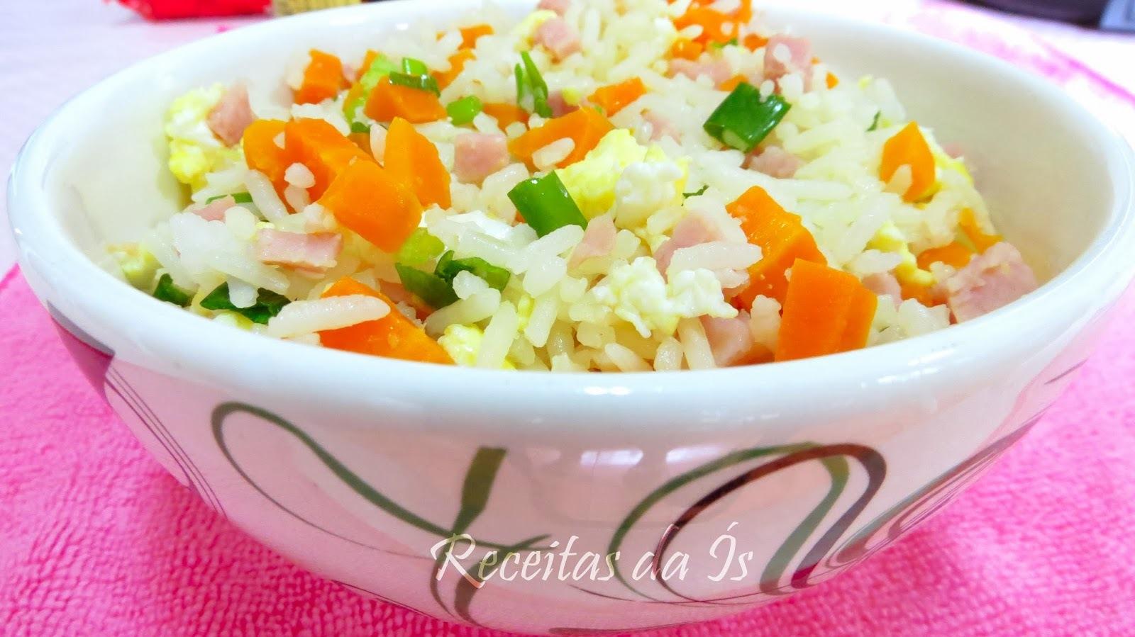 de arroz com peito de frango cenoura e milho verde